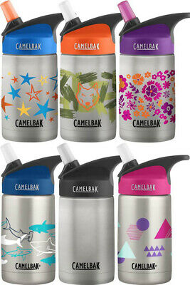 Camelbak Eddy Kids Water Bottle Vacuum Insulated Stainless 350ml Cute Designs