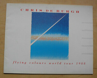 Chris De Burgh Flying Colours Tour World Tour 1988 Programme Glossy Colour Conce