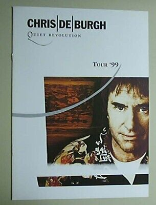 Chris De Burgh Quiet Revolution Programme 1999 Tour Glossy Colour Concert Book U
