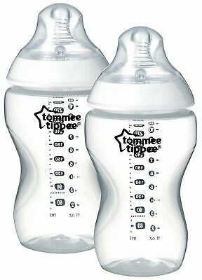 Tommee Tippee CLOSER TO NATURE BOTTLE 340ML X2 Baby Feeding BN