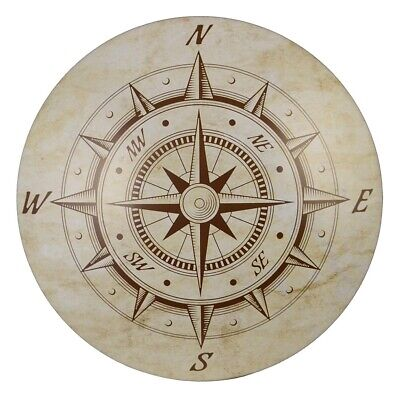 Nautical Decor Rustic Wooden Compass Wall Decor Beach House