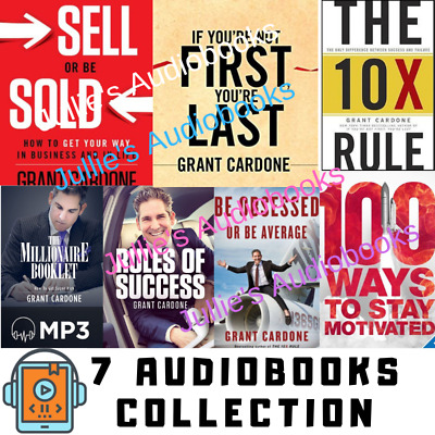 Grant Cardone 7 AudioBook Collection Digital Delivery 7 Audiobooks