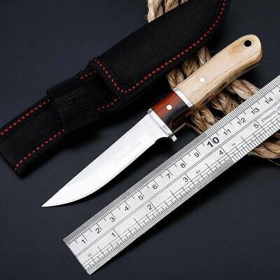 "NEW 6"" Fixed Blade Tactical Straight Pocket Hunting Survival Knife Straightback"
