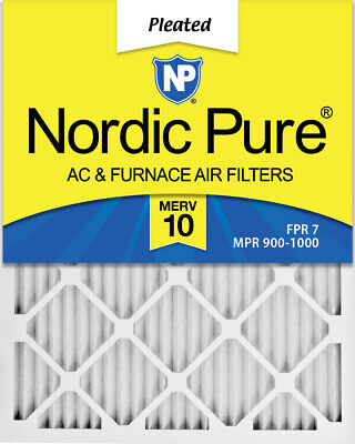 Nordic Pure 12x36x1 Exact MERV 10 Pleated AC Furnace Air Filters 4 Pack