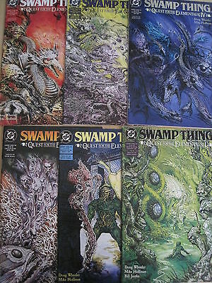 SWAMP THING 104-109 : QUEST for the ELEMENTALS : COMPLETE 6 ISSUE STORY. DC.1991
