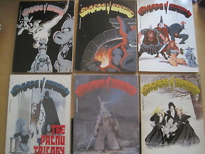 SWORDS of CEREBUS Books : SET of Vols 1,2,3,4,5,6 from 1980s. DAVE SIM.SOFTCOVER
