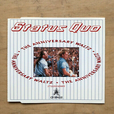 Status Quo Anniversary Waltz Cd Single 1990 + The Power Of Rock + Perfect Remedy