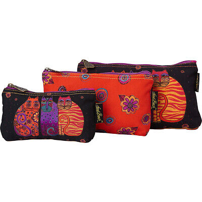 bb29e2d787 Laurel Burch Feline Friends 3 in 1 Cosmetic Bag Sets - Women s SLG Other NEW