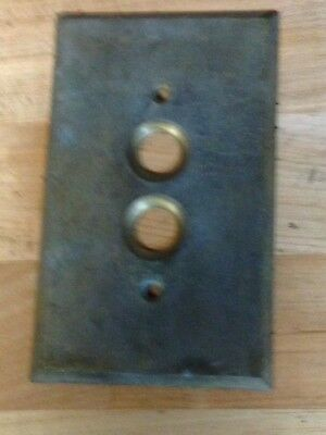 Antique Vintage Brass Arrow Push Button Light Switch Plate Part