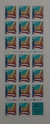 US SCOTT 3278e BOOKLET OF 20 CITY FLAG STAMPS 33 CENT FACE MNH