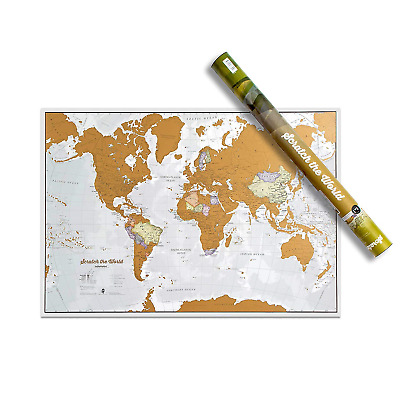 Maps International Scratch the World® Travel Map – Off World Poster with...