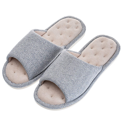 0caef4cfb Echoapple Women Mens Unisex Washable Cotton Open-Toe Home Slippers Indoor.