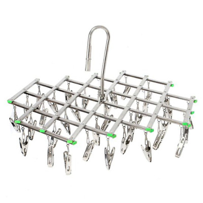Stainless Steel Drying Rack with 35 Clips, Space Saver Drip Hanger, Pegs...