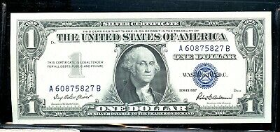 Uncirculated Series of 1957 United States Silver Certificate $1 Note DE20