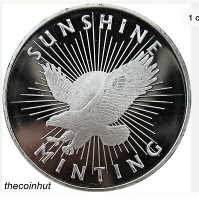 Sunshine Mint SMI Eagle 1 oz. .999 Fine Silver Round