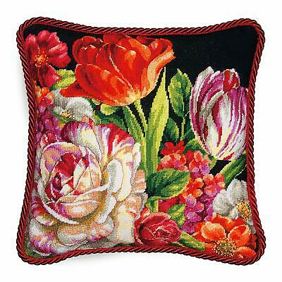 Dimensions Needlepoint Kit - Bouquet on Black