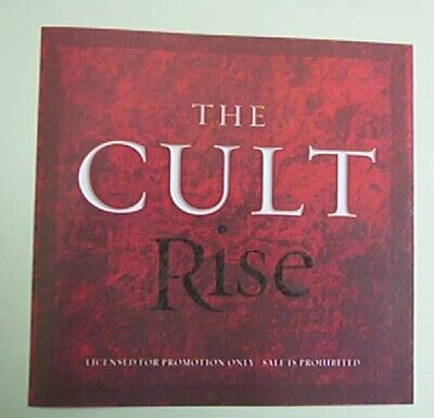 Cult Rise Cd Single Promo (Edit + Album Versions) + P/s Usa