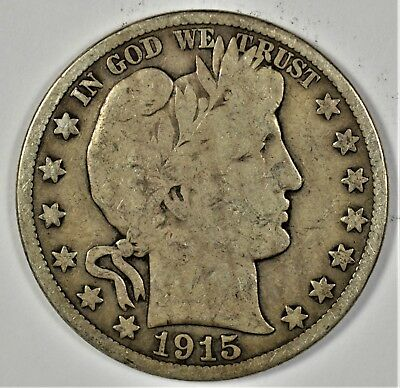 1915-S Collectible Silver Barber Half-Dollar (b473.95)