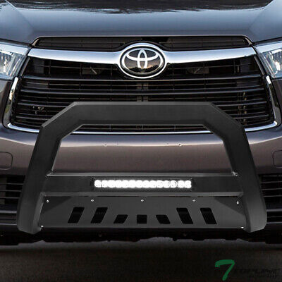 Topline For 2014-2019 Toyota Highlander AVT Aluminum LED Bull Bar - Matte Black