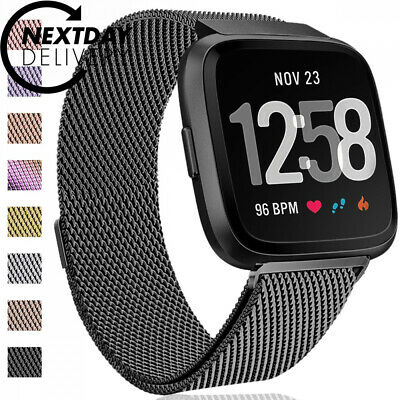 HUMENN for Fitbit Versa Strap Bands, Luxury Milanese Stainless Steel...
