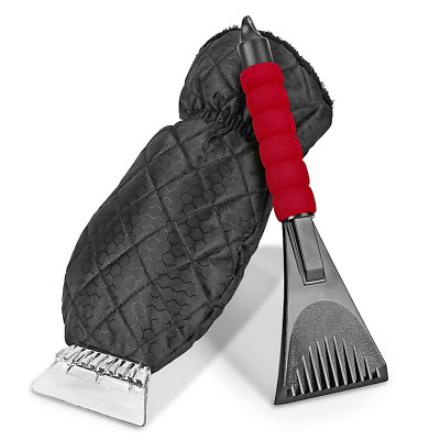 Rorchio 2 Pack Ice Scraper for Car, Glove and Snow Tool with ABS Blade...