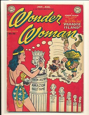 Wonder Woman # 36 VG Cond. two extra staples added