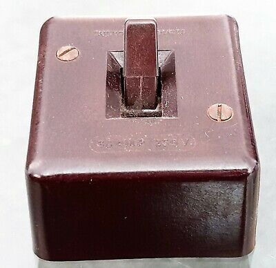 Original Bakelite G.E.C 30 amp Main Switch Wall Mount