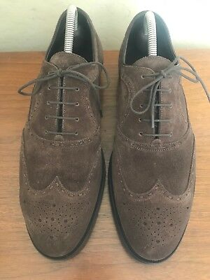 0540bd916039 Bottega Veneta Brown Suede Oxfords Wingtip Dress Shoes Lace Up Men s Size  41.5