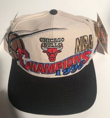 ad3208a578514 Chicago Bulls 1996 NBA Champions Snapback Hat By Logo 7 NWT Official Locker  Room