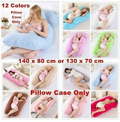 Pregnancy Pillow Maternity U Shaped Cotton Full Body Pillow / Case Sleep Support