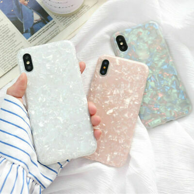 For iPhone 6 7 8 Plus XS Max XR Marble Shockproof Silicone Protective Case Cover