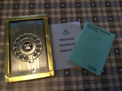 Retro 60's boxed telephone book dial up phone directory & GPO personal books