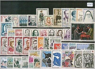 Timbres De France Annee Complete 1961 Neuf Luxe **