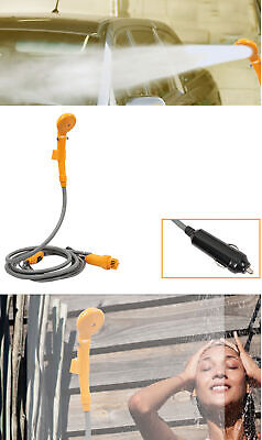 12V Portable Outdoor Automobile Car Shower Set Camping Caravan Water Spray Pump