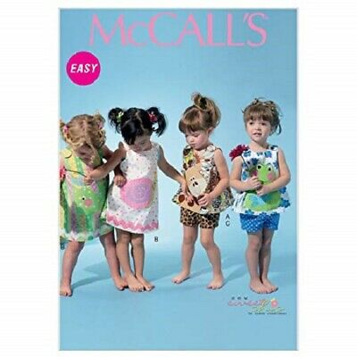 McCall's Patterns M6541 All Sizes Infants' Top, Dress, Shorts and Appliquande...