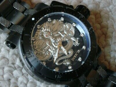 New 26512 Invicta Coalition Forces Dragon Black & Silver 52mm Automatic Watch