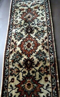 """Antique 1900s wool Table Runner Textile Rug Persian Oriental 52""""  x 14.5"""""""