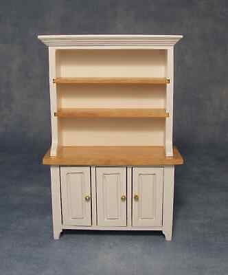 DOLLS HOUSE 1/12th SCALE WHITE/PINE KITCHEN DRESSER