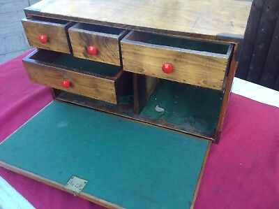 Vintage Wooden Engineers Tool Chest Made by Owner Very Good Condition With 2 Key