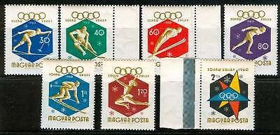 HUNGARY - 1960. 8th Winter Olympics,Squaw Valley Sport Cpl.Set MNH! Mi 1668-1674
