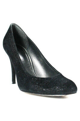 459a1f41bac9 STUART WEITZMAN MR. Seymour Black Jeweled Heel Shoes Size 8.5 AA 8 1 ...