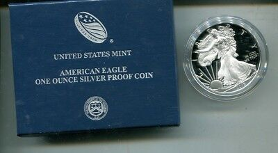 2018 W $1 American Silver Eagle 1 Ounce Proof Coin With Box And Coa