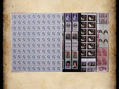 US Postage Stamps Face Value $42 + Unused Lot #170 Sheets Blocks Writers Authors