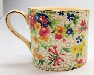 "Royal Winton ""Fireglow"" Small Mug, Floral Chintz UK Grimwade's"