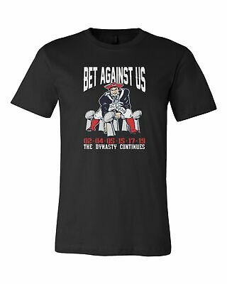 Bet Against Us New England Patriots Superbowl 53 Champions LII T-Shirt Tee New