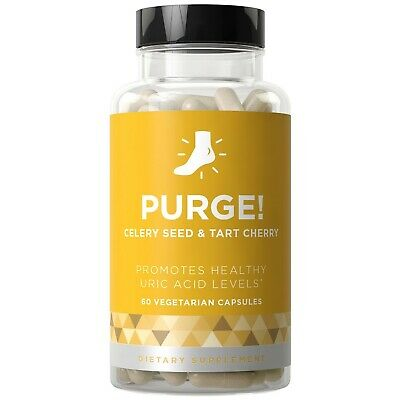 Purge! Uric Acid Cleanse & Joint Support - Tart Cherry & Celery Seed 60 Count