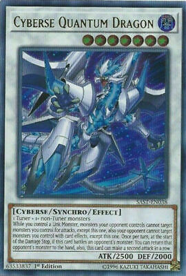 YuGiOh Cyberse Quantum Dragon - SAST-EN038 Ultra Rare 1st Ed NM Near Mint!