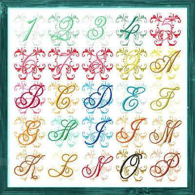 Flash Alphabet And Numbers 36 Machine Embroidery Designs Cd