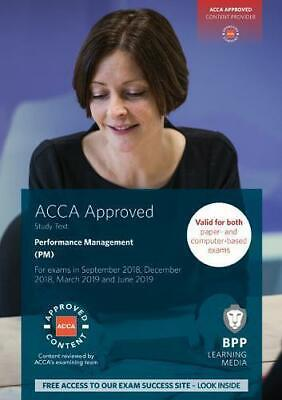 ACCA Performance Management: Study Text by BPP Learning Media, Paperback Book, N