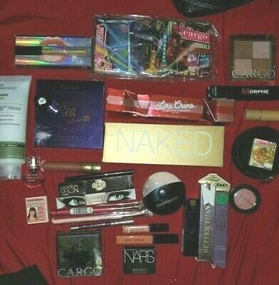 Huge Lot of 30 Urban Decay, Smashbox, Tarte, Huda, Too Faced, PALETTES NEW
